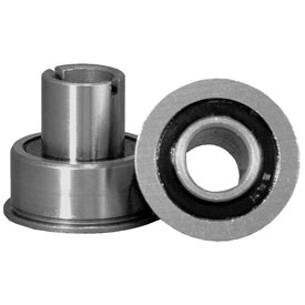 Precision radial ball bearings for caster wheels.