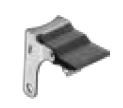 "Pedal Style Brake; For 3"" x 1-1/4"" Swivel Yoke ( for Shepherd Institutional casters. Call to ensure compatibility) (88994)"