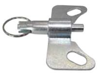 "Position Lock Brake; Steel; Bolt-on style; Works with certain Kingpinless 5-1/4"" x 7-1/4"" caster plates with position lock notches. (88259)"