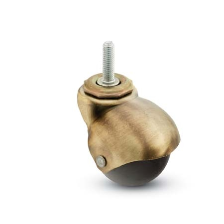 Spherical Caster with the antique finish and Threaded Stem.