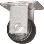 "Caster; Rigid; 3""x1-13/16""; Glass/ Nylon; Plate (3-1/8""x4-1/8""; holes: 2-3/8""x3-3/8""; 5/16"" bolt); Zinc; Roller Brng; 1200# (67403)"