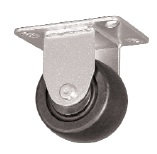 "Caster; Rigid; 2-1/2 x 1-13/16; Glass/ Nylon; Top Plate (2-1/2""x3-5/8""; holes: 1-3/4""x2-7/8"" slotted to 3""; 5/16"" bolt); Zinc; Roller Brng; 400# (66548)"