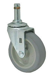 "Caster; Swivel; 6"" x 1-1/4""; PolyU on PolyO (Gray); Grip Ring (.845"" x 2-3/16""); Zinc; Ball Brng; 325#; Dust Cover (Mtl) (64189)"