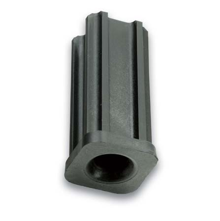 "Caster Socket (Square); Grip Ring: 0.892"" O.D. x 7/16"" I.D.; fits connectors up to 1-1/2"" long. For 1"" 16ga square tubing or 61/64"" I.D. Round tubing. (89261)"