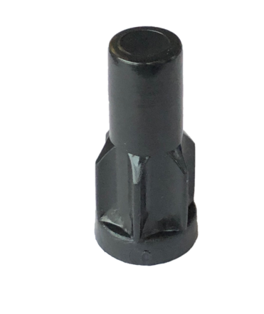 "Caster Socket (Round); Grip Ring: 13/16"" O.D; Plastic (dark); for 20 ga 7/8"" Tubing w/ 0.81"" ID; fits 7/16"" connectors up to 1-1/2"" long (87951)"