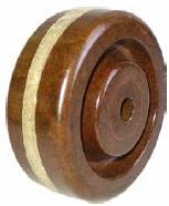 Wheel; 4 x 1-1/2; Phenolic; High Temp (BR); Plain bore; 600#; 1/2 bore; 1-5/8 Hub Length; High Temp (89657)