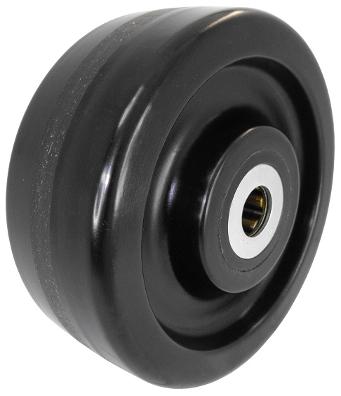 "Wheel; 5"" x 1-1/2""; Phenolic; Roller Brng; 3/4"" Bore; 1-7/8"" Hub Length; 600# (89385)"