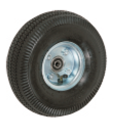 "Wheel; 8"" x 2-3/4""; Flat Free (Black); Ball Brng; 3/4"" Bore; 2-1/4"" Hub Length; 250#; Offset Bolted Hub; Sawtooth Tread (88975)"