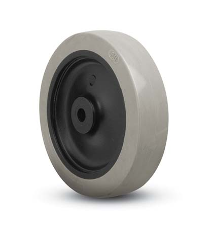 "Wheel; 2"" x 13/16""; PolyU on PolyO (Gray); Plain bore; 1/4"" Bore; 15/16"" Hub Length; 100#; 40D Durometer (88961)"