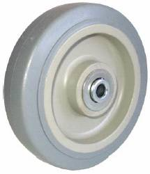 Thermoplastized Rubber replacement gray Caster Wheel