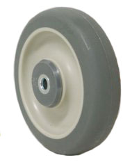 "Wheel; 5"" x 1-1/4""; PolyU on PolyO (Gr/Bg); Ball Brng; 3/8"" Bore; 1-9/16"" Hub Length; 300# (88504)"