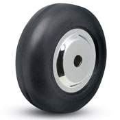 "Wheel; 3"" x 1""; Rubber (Soft; non-marking); Precision Ball Brng; 5/16"" Bore; 1-3/16"" Hub Length; 175# (88275)"