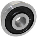Heavy duty, drop forged steel Wheel with a precision bearing.