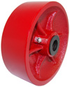 "Wheel; 4"" x 2""; Steel (Ductile); Roller Brng; 3/4"" Bore; 2-3/16"" Hub Length; 1500# (88390)"