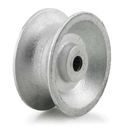 Metal U-groove or Pipe Wheel with a roller bearing