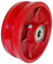 "Wheel; 8"" x 4""; V-Groove (1-3/4"" Groove) Ductile Steel; Tapered Rlr Brng; 1-1/4 Bore; 4-1/2 Hub Length; 15000 (89036)"