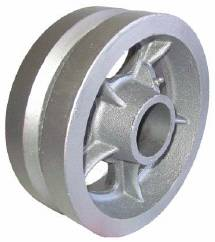 Silver V-Groove Wheel with a Roller bearing