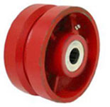 "Wheel; 8"" x 2-1/2""; V-Groove (7/8) Ductile Steel; Tapered Rlr Brng; 3/4"" Bore; 2-3/4"" Hub Length; 3500# (89669)"