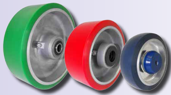 Polyurethane on Steel or aluminum Wheel with a ball bearing