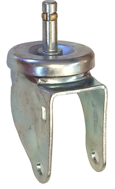 "Yoke; Swivel; 5"" x 1-1/4""; Grip Ring (7/16"" x 1-3/8"" w/ brass band); Zinc; 3/8"" Bore; 1-9/16"" Hub Length; 325#; Dust Cover (Mtl) (88080)"