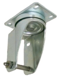 "Yoke Axle & Nut; Swivel; 3"" x 1-1/4""; Threaded Stem (1/2""-13TPI x 2-9/16""); Zinc; 3/8"" Bore; 1-9/16"" Hub Length; 300# (88413)"