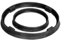 "Raceway Seal; Rubber; fits 4"" x 4-1/2"" plate. (CALL TO ENSURE FIT). 40 - 140 deg F. (#89038)"