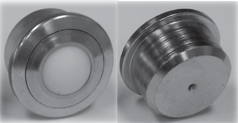 Machined Ball Transfer with a Nylon ball and Round Stem connector (#88174)