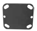 Bolt-on Pad or Shim plate for a Top Plate caster. (#88526)