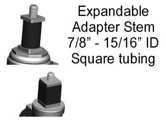 "Expandable Adapter; Square for 7/8"" x 15/16"" I.D. tubing; (install on 1/2"" max diam x 2-3/16"" min length threaded stem) (88026)"