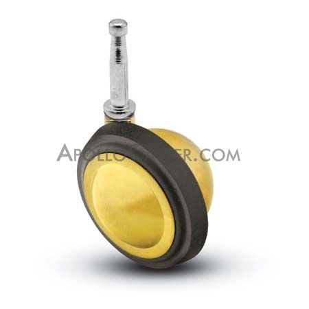 "Caster; Ball; Swivel; 1-9/16""; Rubber tread; Grip Neck (5/16\""x1-1/2\""); Brass; Acetyl/ Resin Brng; 40# (67457)"