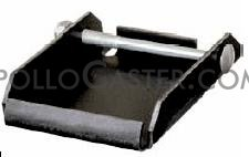 "Caster Quick Change Plate; weld-on or bolt-on style; Steel; for Top Plate 4""x4-1/2\""; Unplated; Receiving width 4-1/8\"". 5/32\"" Thick (88960)"
