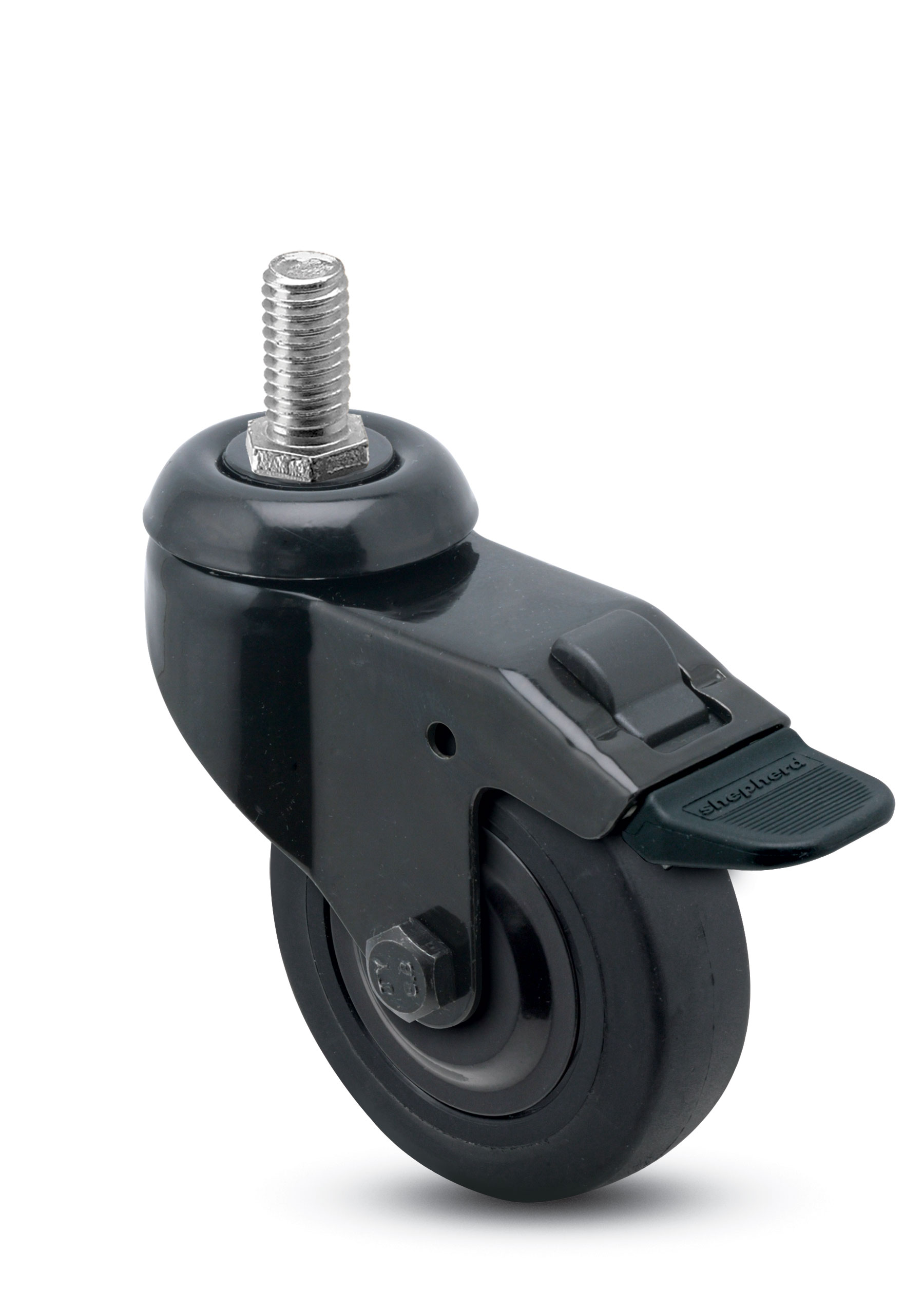 3 x 13 16 swivel caster with a thermoplastized rubber for 3 furniture casters